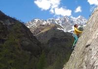 Arrampicare alle pendici del Monte Rosa